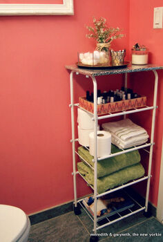 dumpster dive diy beauty bar cart bathroom storage, bathroom ideas, cleaning tips, small bathroom ideas