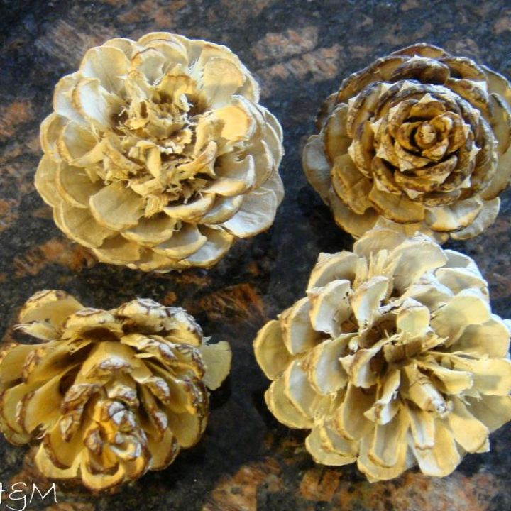 How to bleach your pinecones for an unusual beautiful effect in home ...