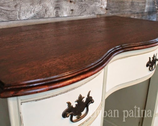 creamy two tone desk refresh, painted furniture