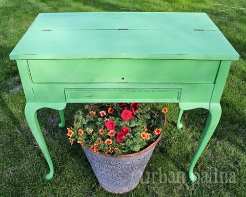 vintage secretary makeover, chalk paint, painted furniture