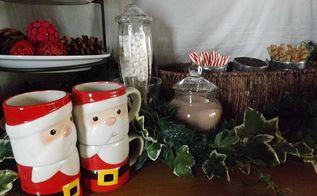 hot chocolate bar, seasonal holiday decor