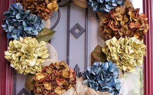 hydrangea wreath, crafts, wreaths