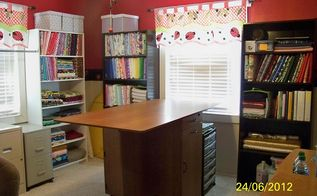 quilting info here is something that will save u room with your fabric, craft rooms, organizing, Now this is what a nice organized room looks like with these boards for sure posted on my Quilting Board site enjoy and get wrapping it up I will have a new Quilt room like this soon keep watching