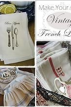 make your own vintage french table linens, crafts, home decor