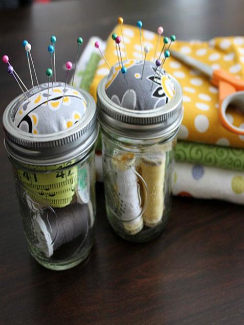 5. Mason Jar Sewing Kit
