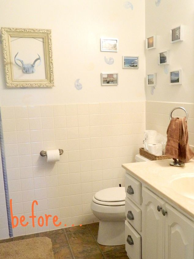 painting bathroom tile, bathroom, painting, tiling, my bathroom tile was in good shape It was just tired old fashioned and beige