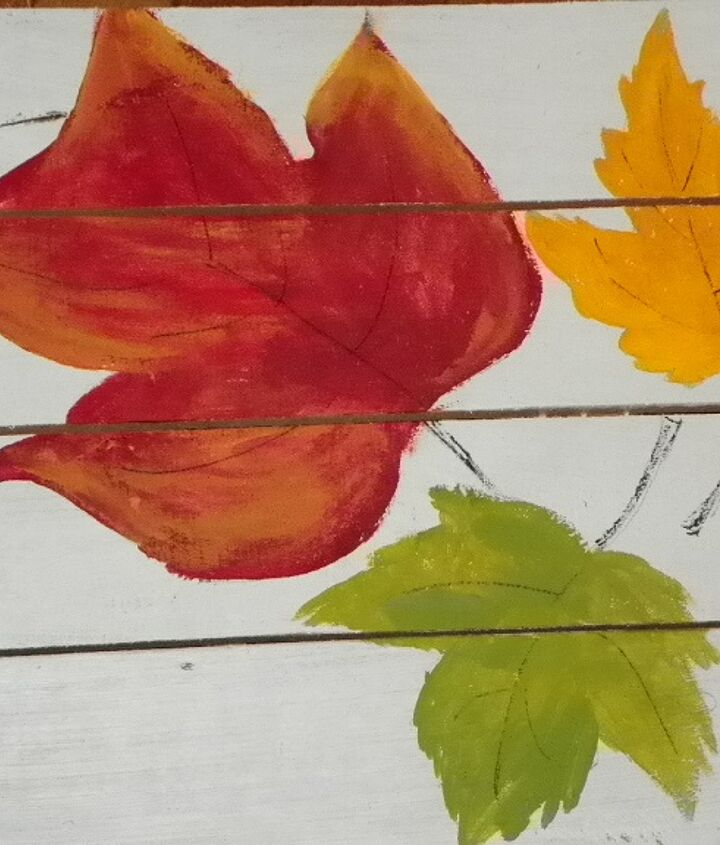 Here are the random leaves that I painted different colors...