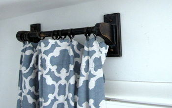 Making curtain rods out of towel bars!