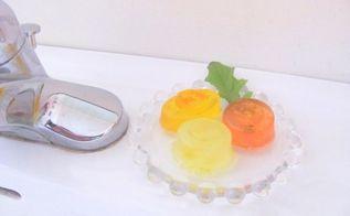 making natural citrus soaps, crafts, And at work in my bathroom Lemon Orange and Grapefruit Soaps