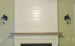 building a fireplace mantel after closing a tv niche above fireplace, diy, fireplaces mantels, home decor, paint colors, seasonal holiday decor, wall decor, Two coats of primer and Valspar trim paint