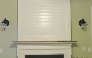 Building a Fireplace Mantel After Closing a Tv Niche Above Fireplace.