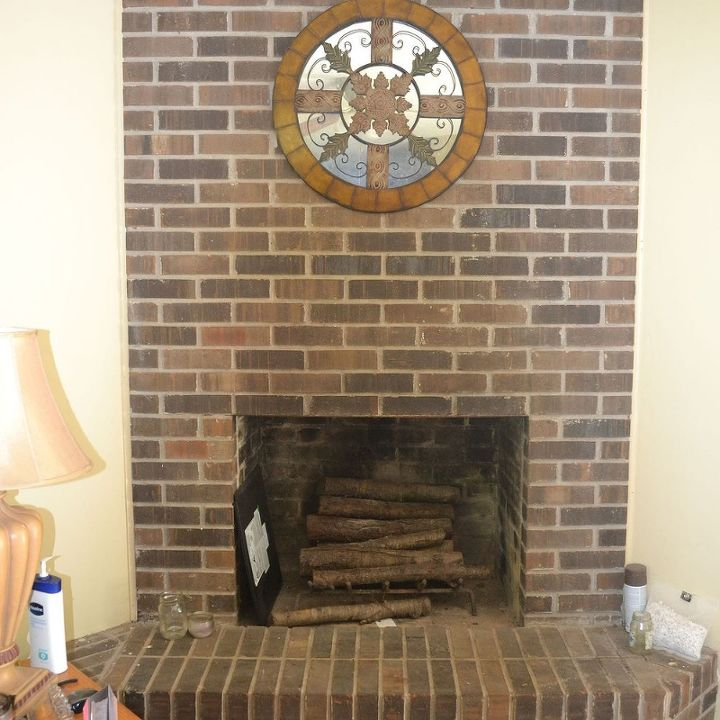 How To Refinish A Brick Fire Place Hometalk
