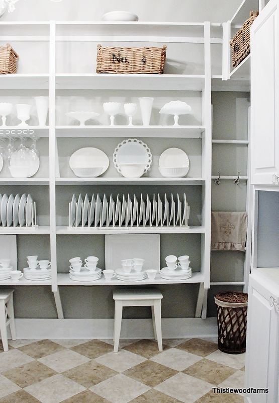 Remodeled Butler S Pantry Closet Home Decor Open Shelving With White Dishes And