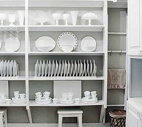 Remodeled Butler S Pantry, Closet, Home Decor, Open Shelving With White  Dishes And