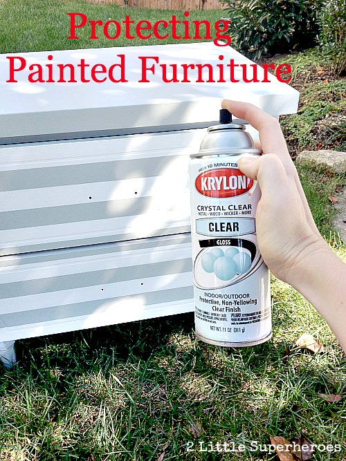 Used Krylon Crystal Clear for some added protection. Can't get any easier than just spraying it on.
