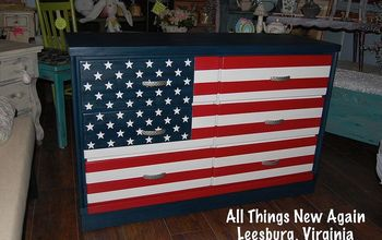 a star spangled dresser redo for a special family, painted furniture