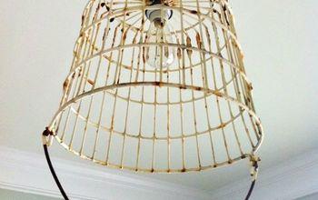 Vintage Egg Basket Turned Into A Light