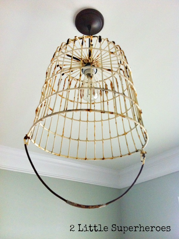 Vintage egg basket turned into a light hometalk vintage egg basket turned into a light electrical lighting repurposing upcycling mozeypictures Choice Image