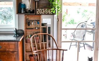 7 easy kitchen storage fixes with upcycles, cleaning tips, kitchen design, shelving ideas, storage ideas, No counter space for the phone and paperwork