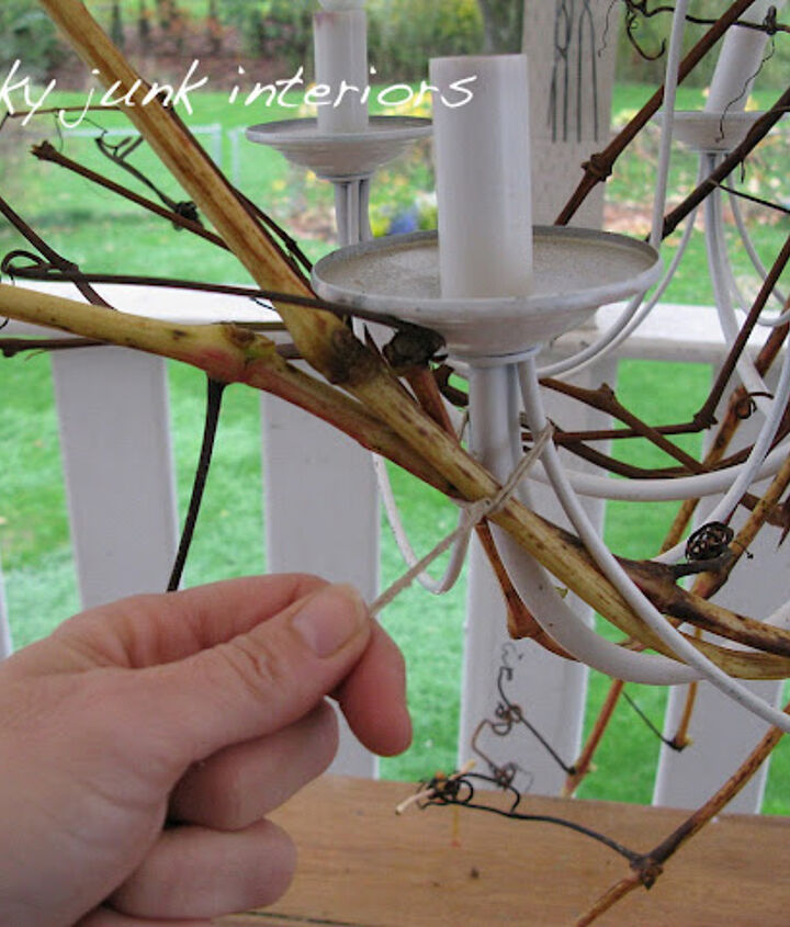 The twigs and branches were attached with twine in all the right places. (more attaching tips are avail)