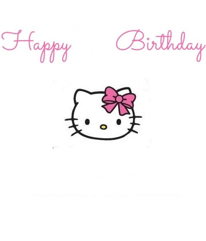 Hello Kitty sign {middle is left blank to add an age}