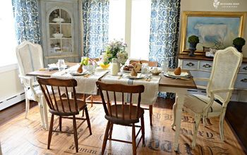 farmhouse tables farmhouse friday, home decor, painted furniture, I love a mix of chairs paired with a beautiful Farmhouse Table