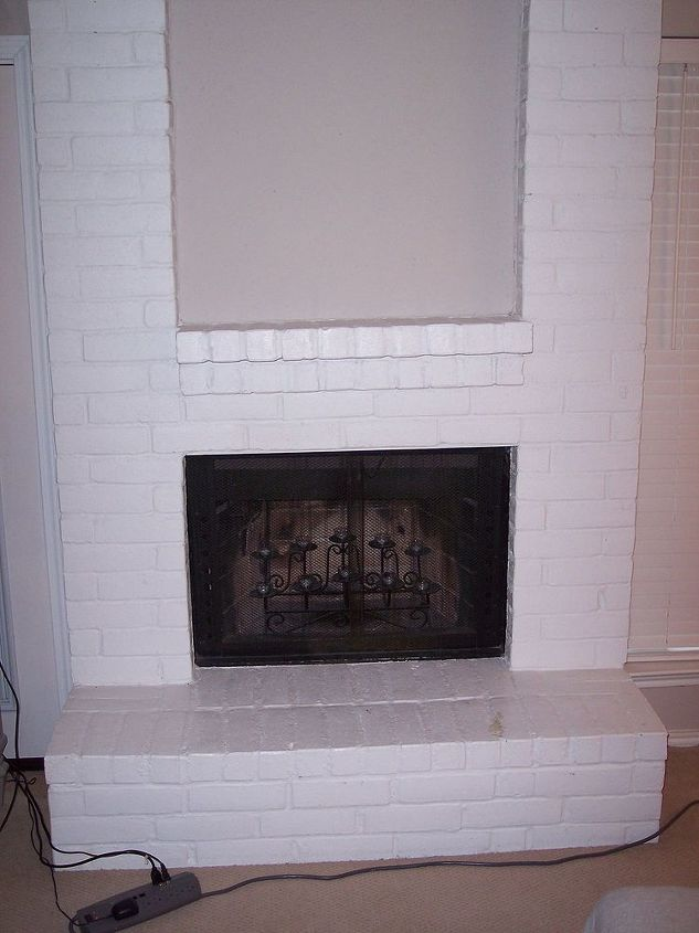 ugly fireplace syndrome help, diy, fireplaces mantels, home decor, living room ideas, wall decor, The lower portion of my fireplace
