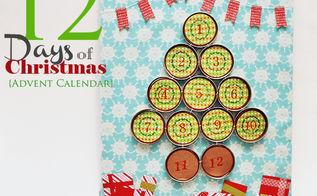 christmas advent calendar, crafts, home decor, mason jars