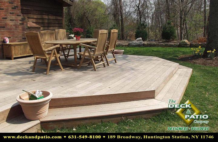 Ipe ground level deck