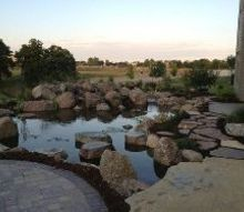 large water garden in the des moines iowa metro, outdoor living, patio, ponds water features, To learn more about our pond construction https www facebook com notes just add water pond fish koi pond backyard landscape pond aquascape ecosystem pond water garden 478461102188914 Aquascape Ecosystem Pond Water Garden Koi Fish