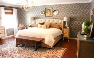 a vintage chic master bedroom makeover, bedroom ideas, home decor, painting