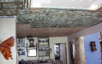 Tin Ceiling Tile Look For Almost Free With Plaster and Paint