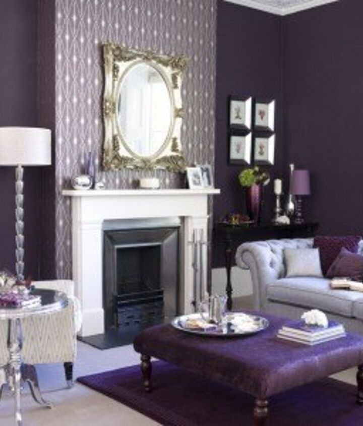 Purple Furniture: Don't fear tone-on-tone color. Balance it with a neutral such as white, Besthomedesign.org