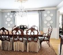 decorating the dining room, dining room ideas, home decor, benjamin moore beach glass on the walls and ceiling matching silk curtains