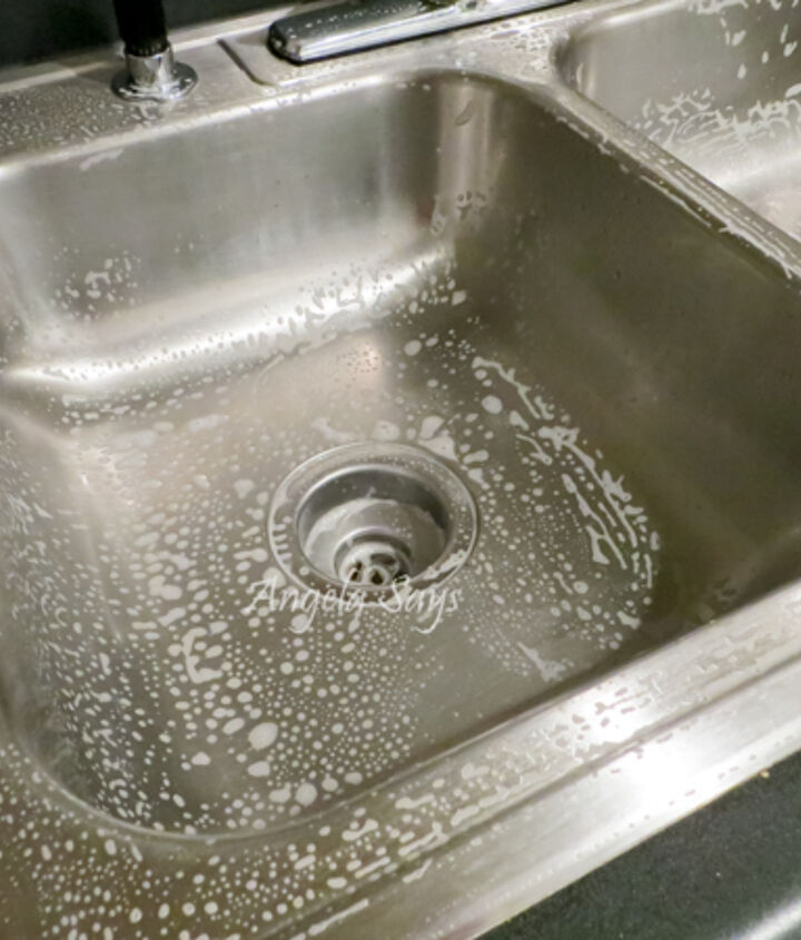 Scrub sink with hot water and soap