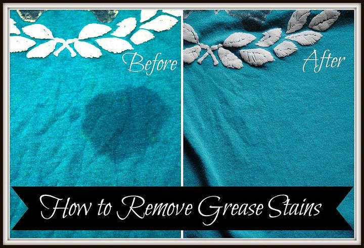 how to remove grease stains, cleaning tips