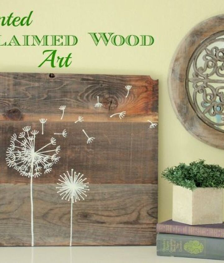 hand painted reclaimed wood art, crafts, painting