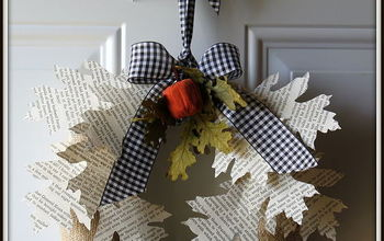 book page leaf wreath, crafts, wreaths