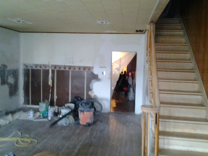 Before (Angle-3) Demo, electrical, heat and stripping and sanding of stair case completed