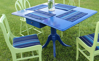 painted vintage deck furniture, outdoor furniture, painted furniture