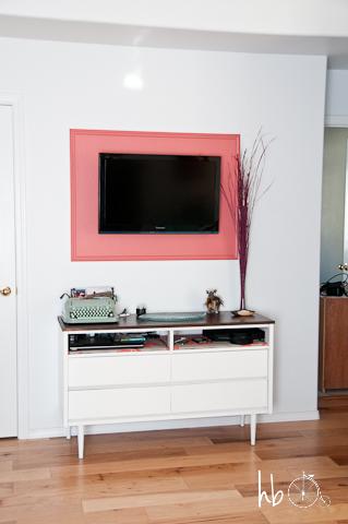 DIY Frame for a Flat Screen Television | Hometalk