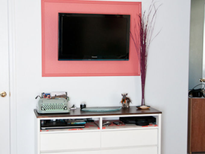 diy frame for a flat screen television, entertainment rec rooms, painting, Give your television an intentional and distinct look by framing it with wood molding