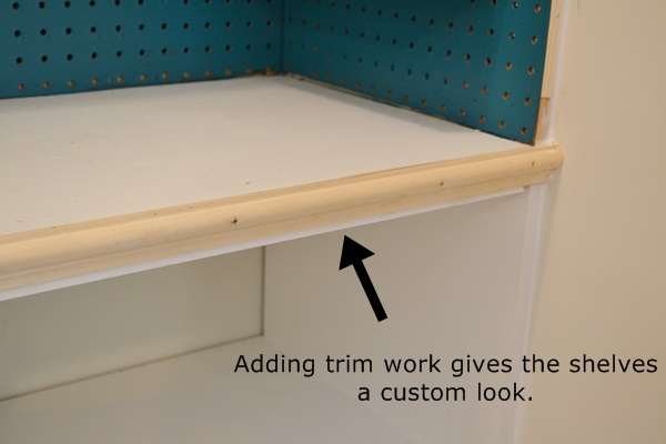 We added some trim work to the melamine boards to give them more of a custom look.