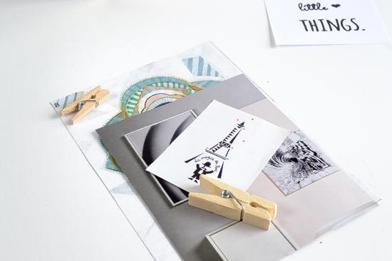 geometric photo holders, crafts