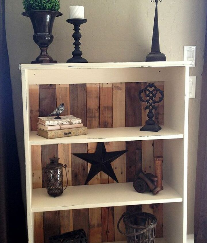 A perfect update to an old bookcase.