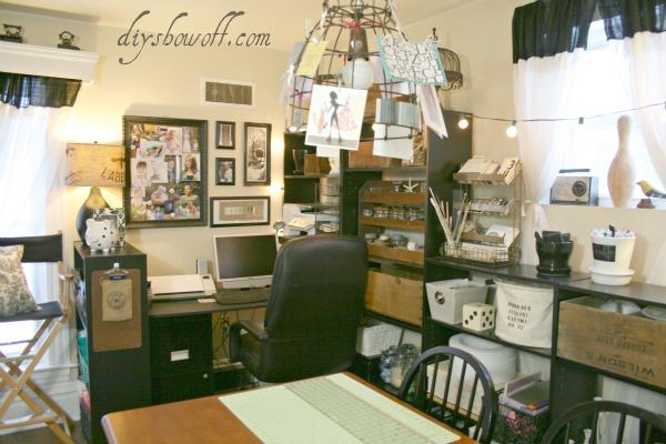 Vintage inspired craft room/home office. | Hometalk