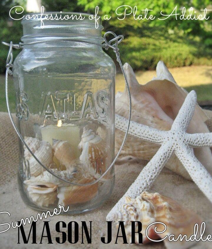 Super easy and fun summer Mason jar candles