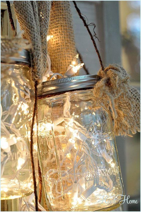 diy mason jar light, lighting, mason jars, outdoor living, repurposing upcycling