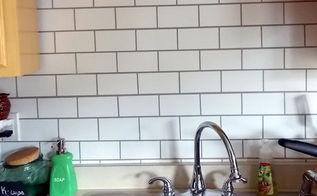 faux subway tile painted backsplash progress, kitchen backsplash, kitchen design, painting