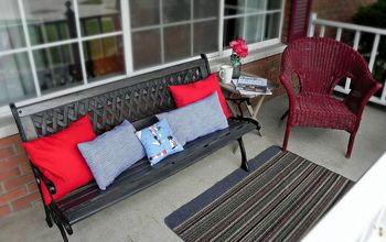 Restoring an Outdoor Bench With Colored Stain